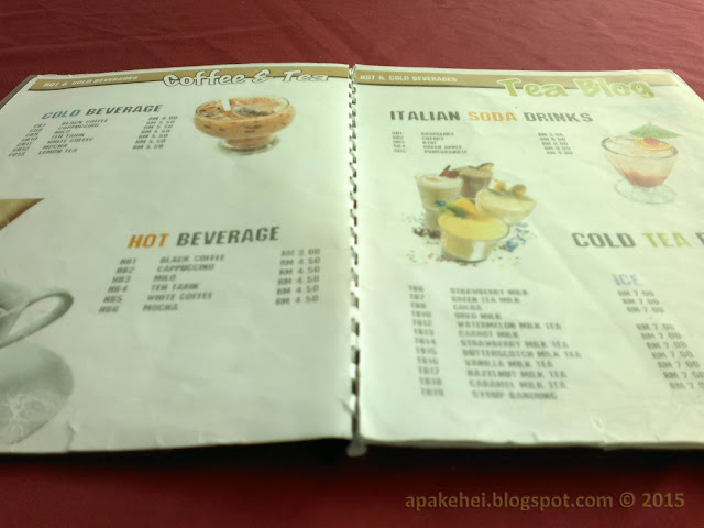 Captain T Restaurant - Menu