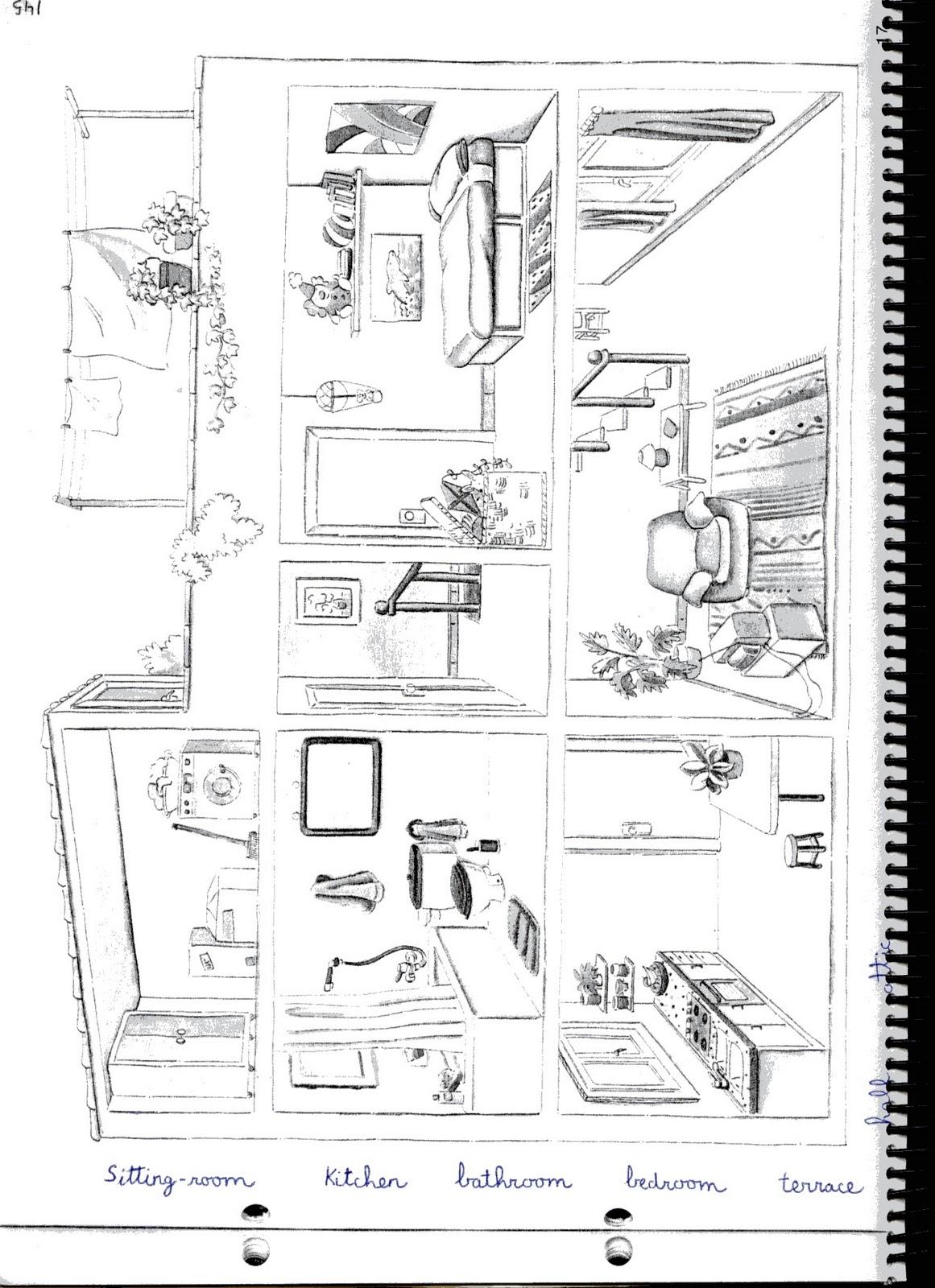 Fichas de inglés: Ficha House 8: House Worksheets