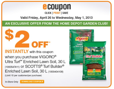 Canadian Daily Deals Home Depot Garden Club Save 2 Off Turf Builder Coupon Apr 26 May 1