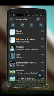 Download BBM Mod Tema Dark Keren Terbaru 2015