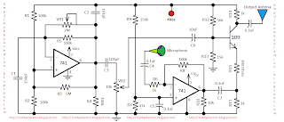 hobby in electronics am transmitter circuit diagram using 741 op amp rh hobbyelectron blogspot com Op-Amp 741 Projects 741 Op-Amp Pin Diagram