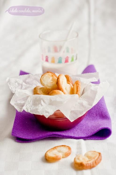 receta de palmeritas de hojaldre