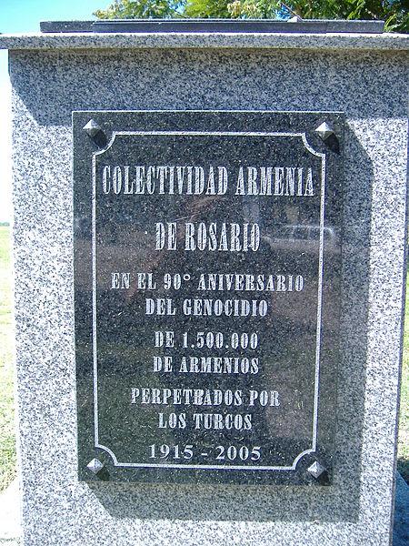 Recordatorio Genocidio Armenio en Rosario