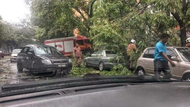21 Gambar Kemusnahan Ribut Taufan Di Bukit Jelutong, Shah Alam, info, terkini, berita, ribut taufan,