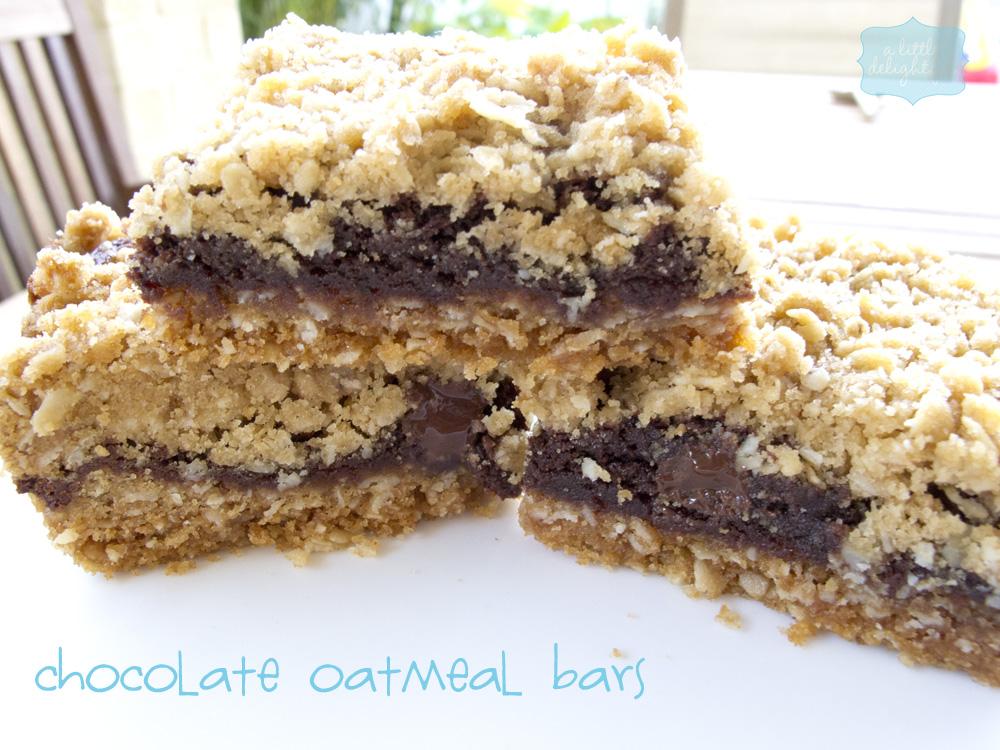 chocolate or apple oatmeal bars