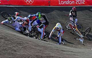 A BMX crash multiple victims