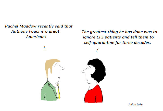 cartoon, cfs, rachel maddow, anthony fauci, hhv-6