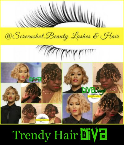 Diva Snap Curly Bob hairstyle inspired by rapper Eve, Installed by Screenshot.Beauty
