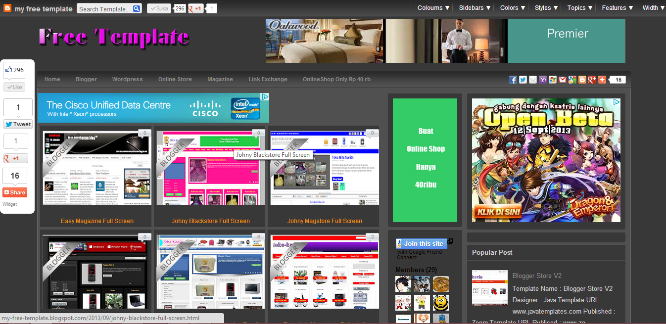 Free Download Galleryzed Template Full Screen : BLOGSPOT TEMPLATES ...