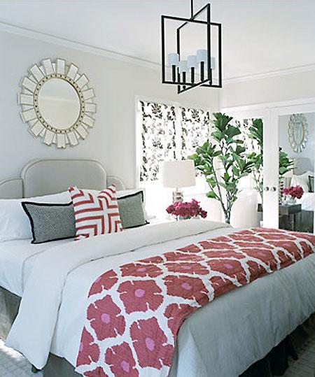 My Sweet June Pink Grey Guest Room