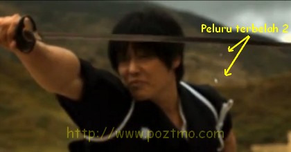 membelah peluru dengan pedang samurai
