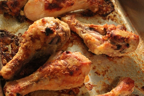 Oven Fried Chicken Legs