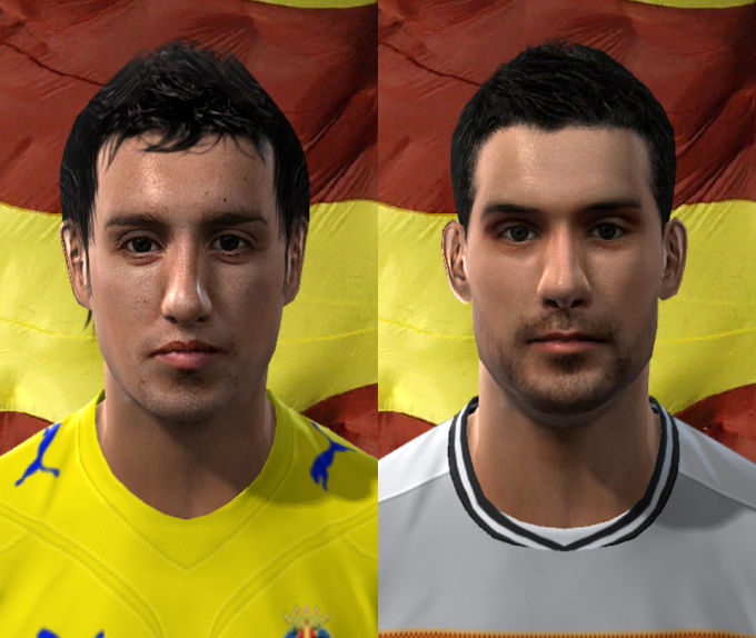 Moya and Cazorla Faces by trigger25