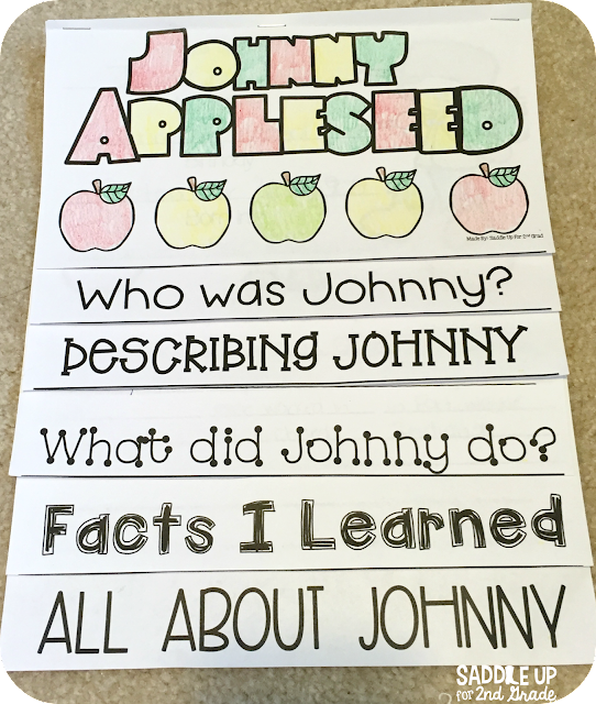Johnny Appleseed Booklet by Saddle Up For 2nd Grade