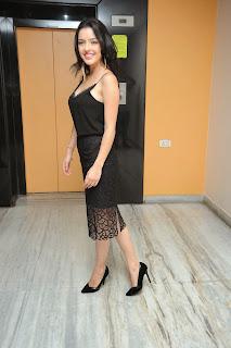 Kristina Akheeva in Cute Lovely Deep Neck Black Gown Amazing Beauty