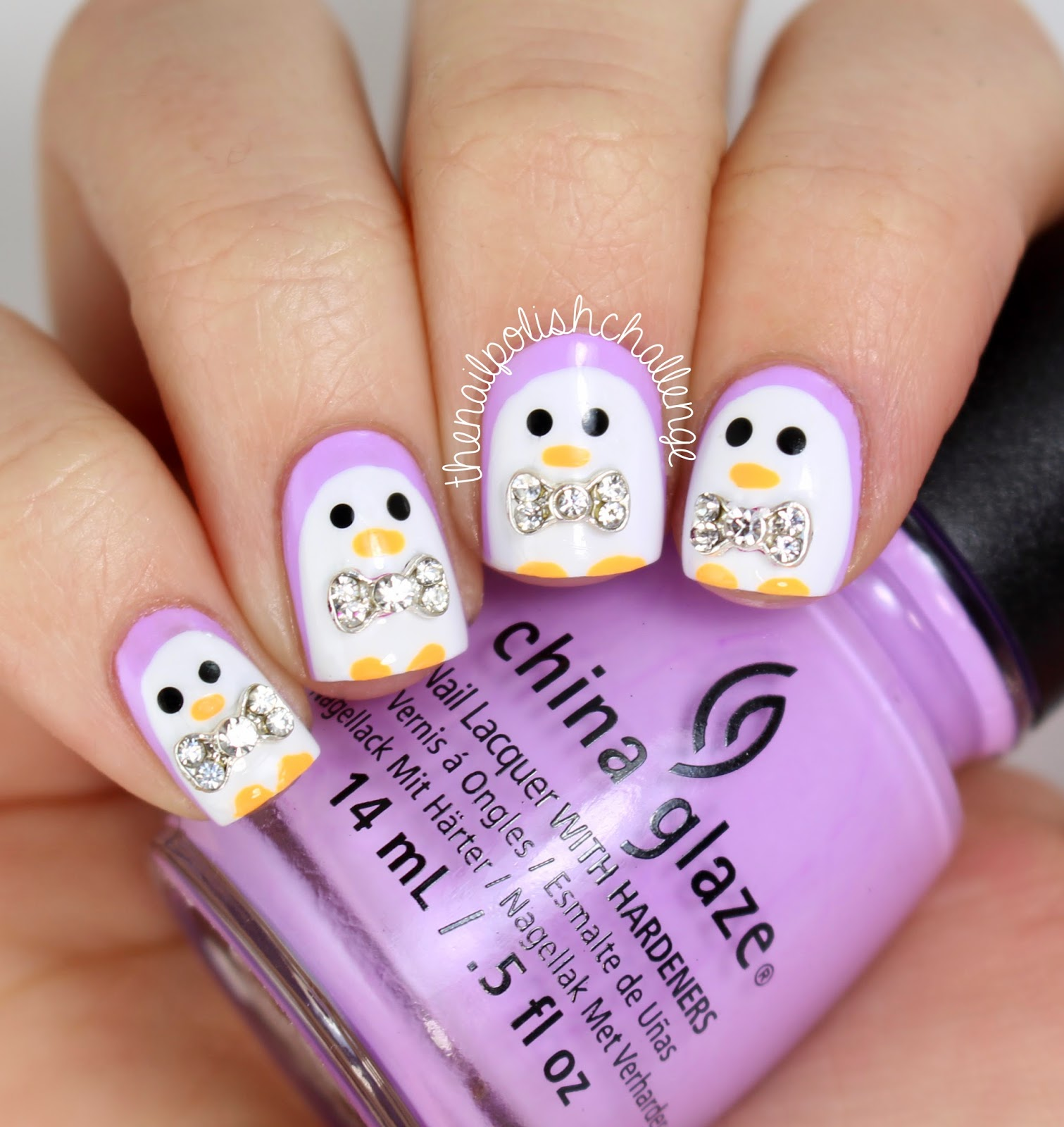 Kelli marissa cute penguin nail art with 3d bows i started with a base of china glaze lotus begin part of the new spring collection i got from hb beauty bar dont forget to use the code polishchallenge prinsesfo Image collections