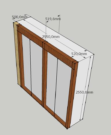 Como hacer tus muebles: Interior armario empotrado -1- Medidas