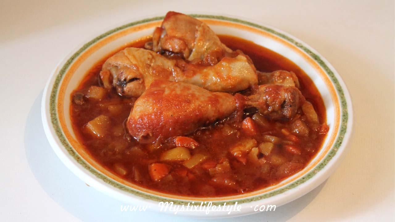 Receta muslitos de pollo en salsa de tomate mystix 39 s - Muslitos de pollo ...