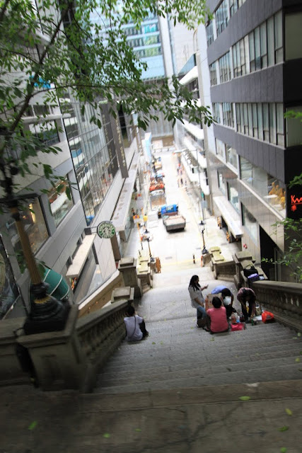 Duddell Street is the popular location to be seen in TVB HK dramas frequently in Hong Kong