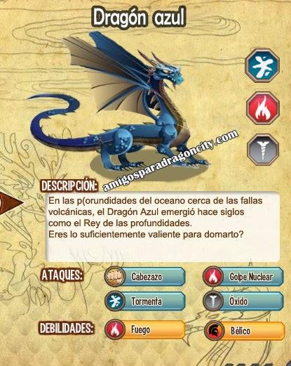 imagen de las caracteristicas del dragon azul