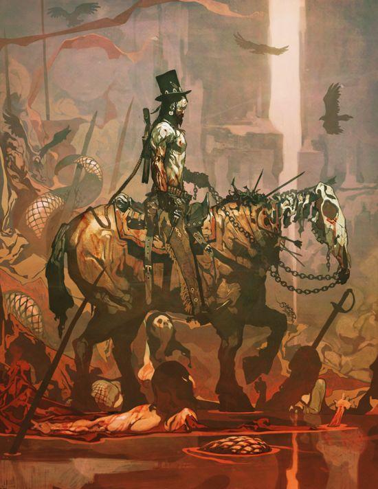 Reynan Sanchez ilustrações fantasia games Do inferno