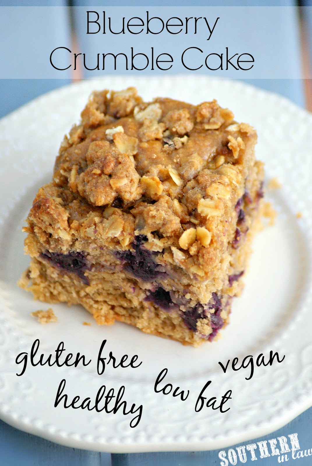 ... Crumble Cake - and just like that cake, it's gluten free, low fat