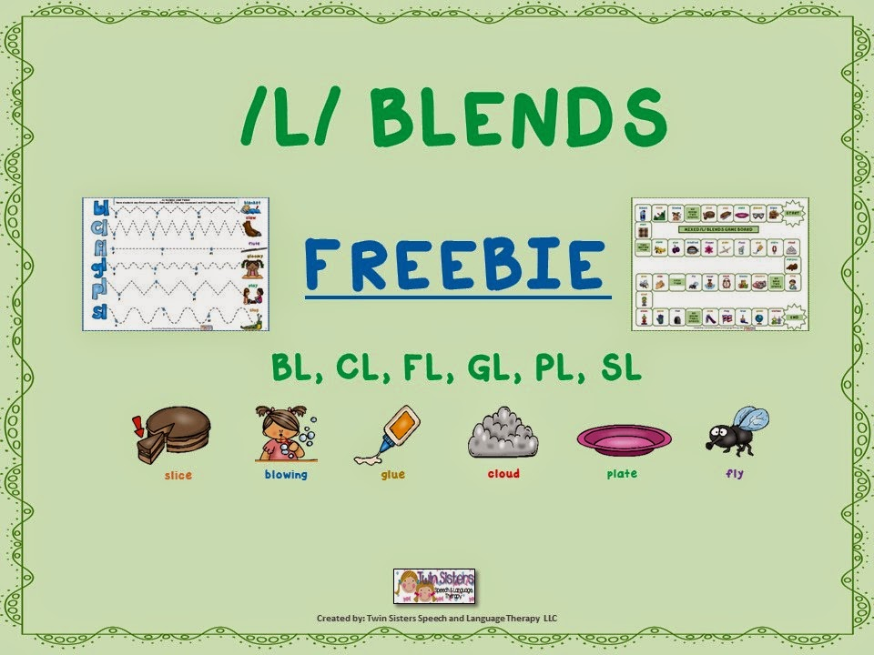 Speechie Freebies Mixed L Blends Articulation Freebie