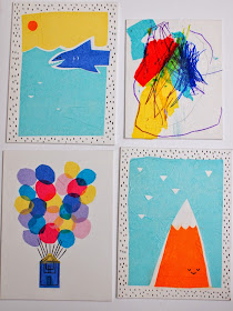 easy tissue paper artwork to be made with the kids
