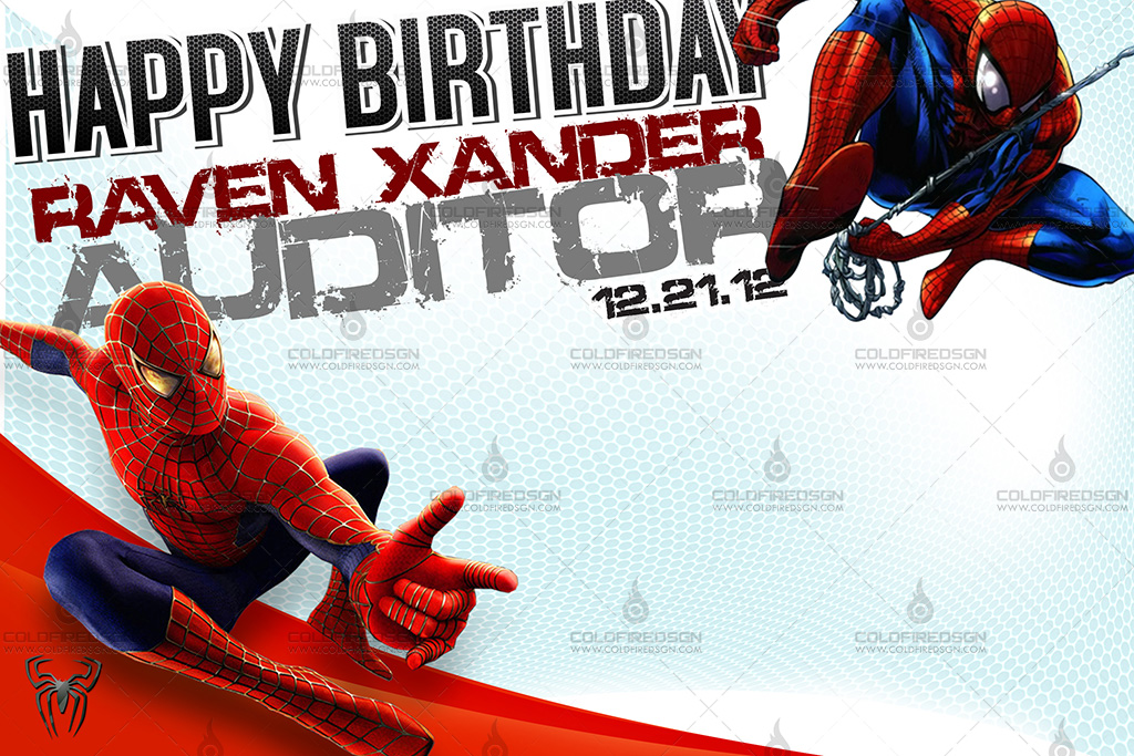 Spiderman Birthday Tarp Psd Coldfiredsgn