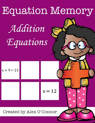 https://www.teacherspayteachers.com/Product/Equation-Memory-Addition-Equations-1680829