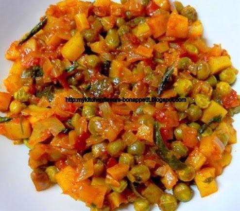 My Kitchen Flavors Bon Appetit Potato Greenpeas Masala