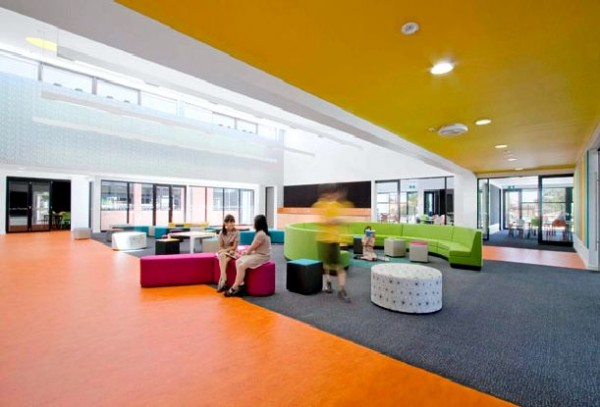 School design with colorfull enjoy room in interior school design with