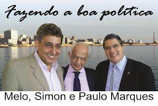 Melo, Simon e Paulo Marques PMDB