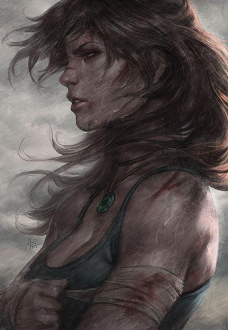 Stanley Lau artgerm deviantart ilustrações mulheres sensuais games quadrinhos Lara Croft sobrevivente