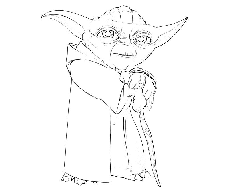 Printable Yoda Yoda Old Coloring Pages 6 - Tubing title=