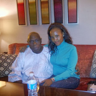 Photo of Ex-President Obasanjo Wrapping His Hand Around Nollywood Actress Waist