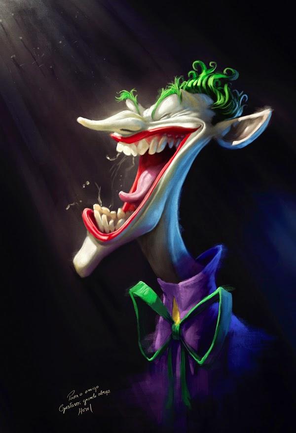 Caricature de Tiago Hoisel représentant le joker
