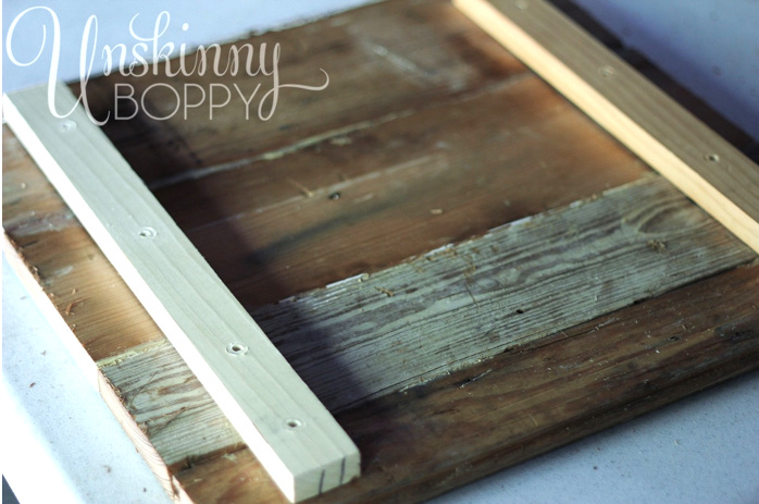 Memory making wax dipped reclaimed wood sign art - Unskinny Boppy, featured on I Love That Junk