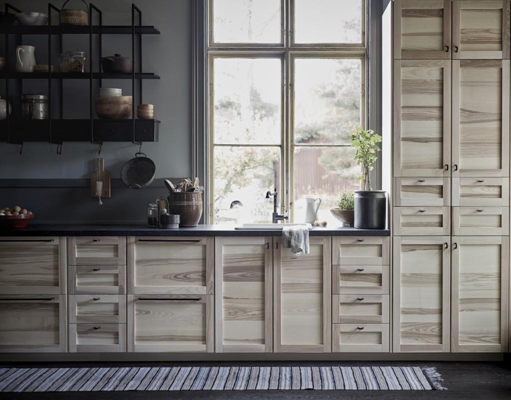 ATELIER RUE VERTE , le blog Ikea  Du naturel en cuisine  bois&lin