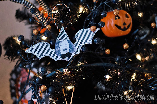 DIY Bewitching Halloween Ornaments. Use family photos to makes these adorable Halloween ornaments.