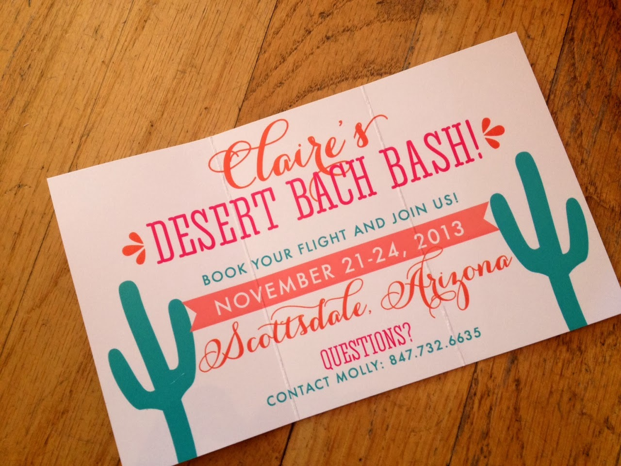 Custom bachelorette party invitation