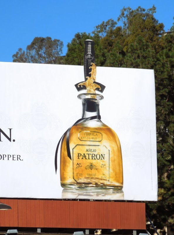 David Yurman limited edition Patron Anejo Tequila billboard