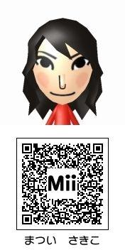 松井咲子(AKB48)のMii QRコード トモダチコレクション新生活