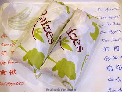 Raízes: Sanduíches embalados