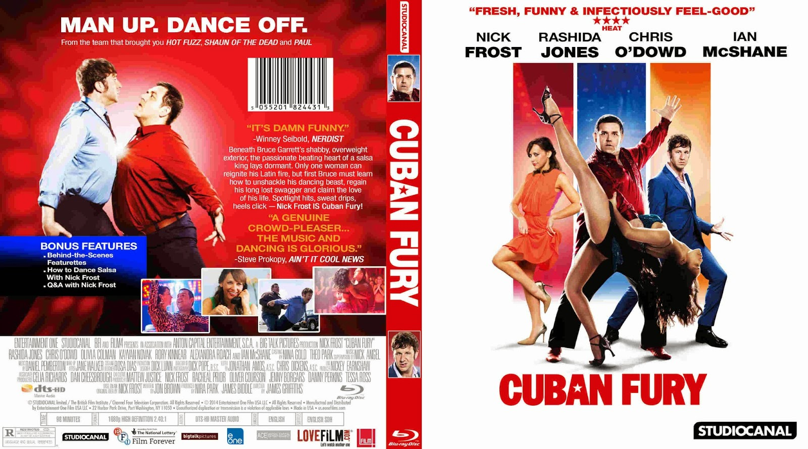 Ritmo Cubano BDRip XviD Dual Áudio Cuban Fury  2014    Cover Blu Ray Movie