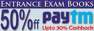 Paytm: Buy Entrance Exam Book on 50% off+ upto 30% Cashback Starts on Rs. 60.