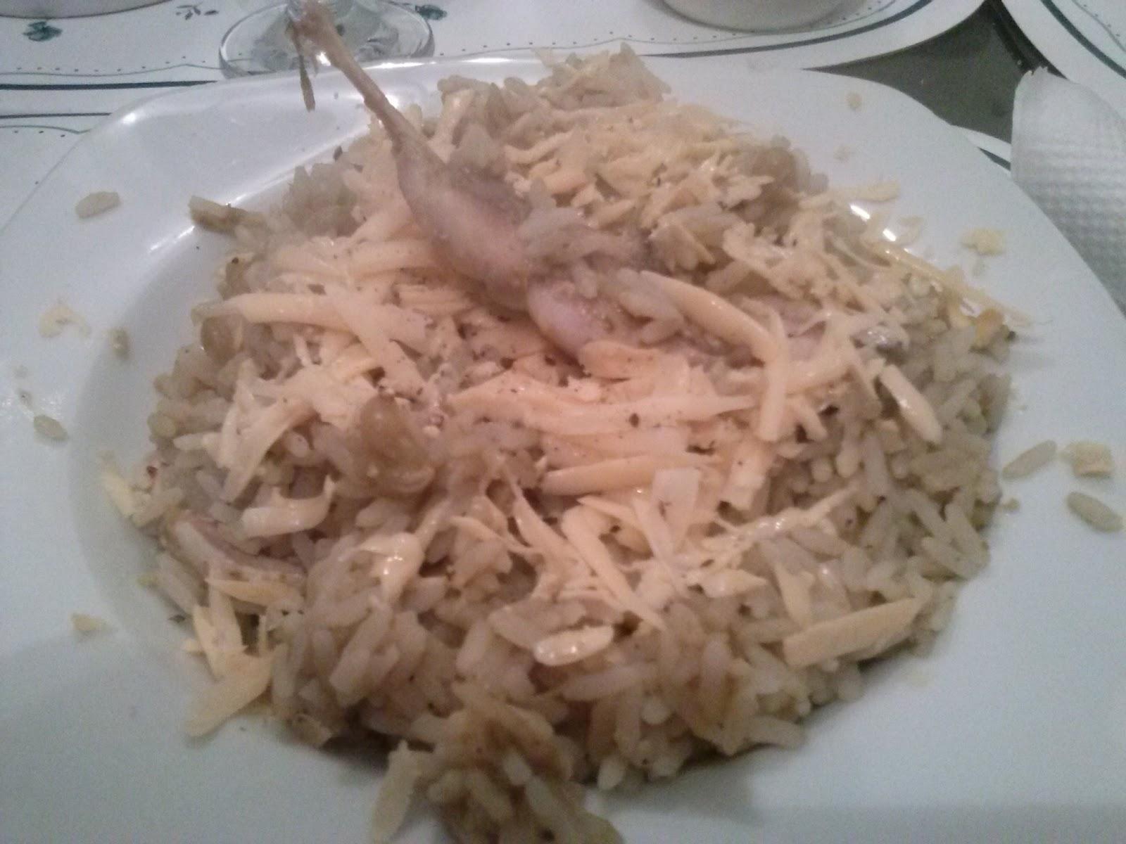Gustos salvajes perdices con arroz versi n light - Arroz con verduras light ...