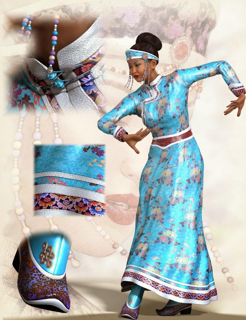 Beauté-vêtements mongols