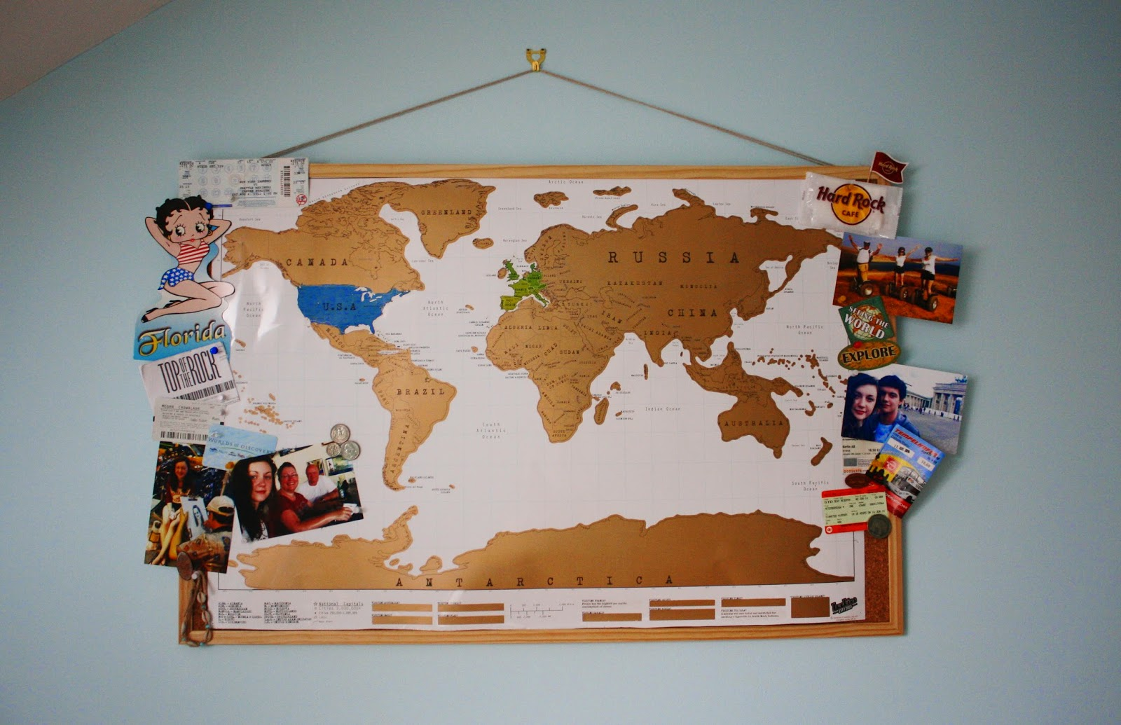 DIY Scratch Map – Luckies Travel Scratch Map