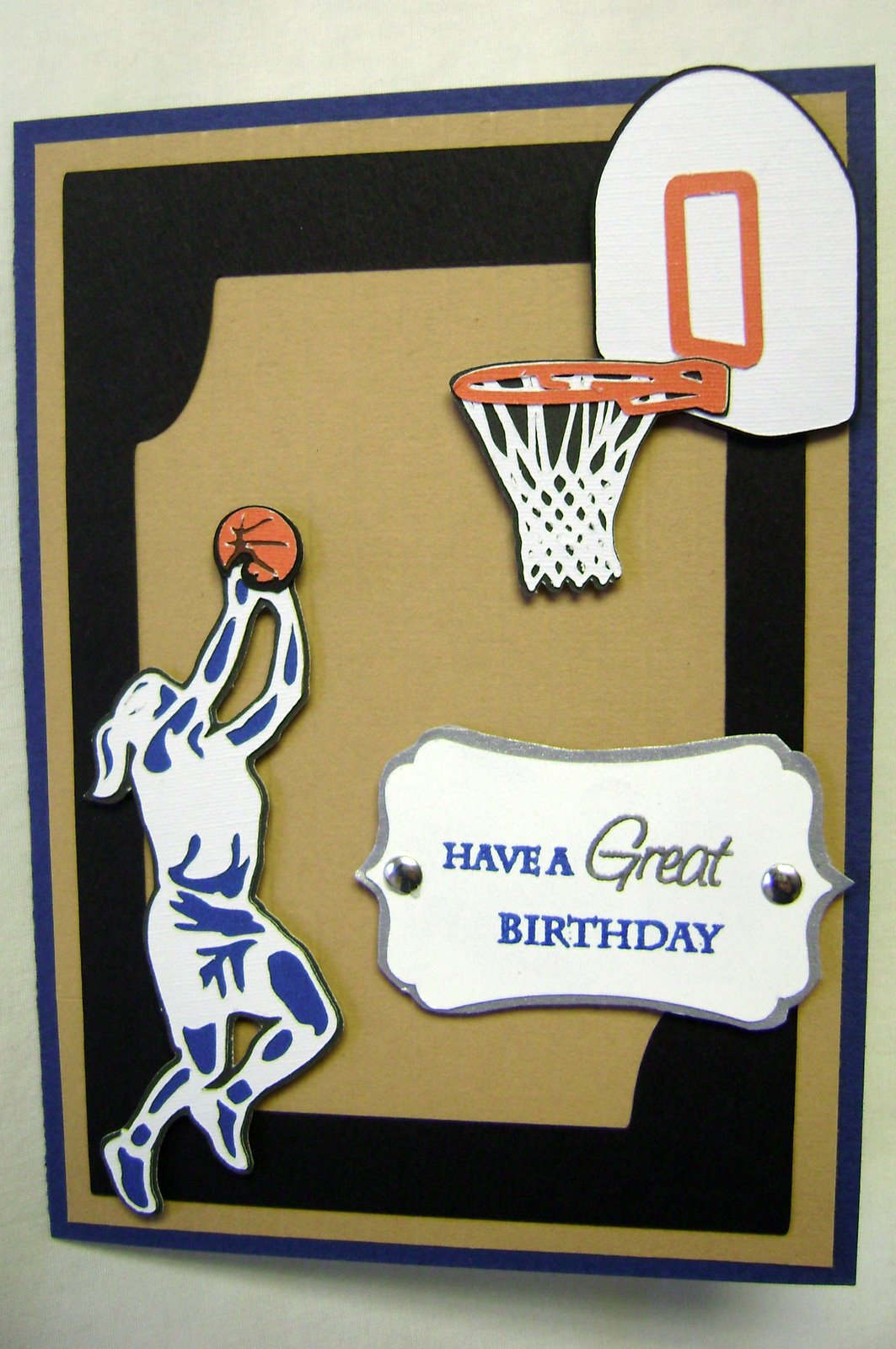 Nanettes card creations basketball birthday card basketball birthday card bookmarktalkfo Image collections